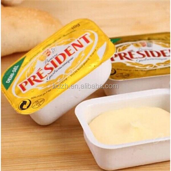 Chine impression personnalisée feuille d'aluminium laminé margarine beurre emballage