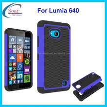 Rugged football pattern silicone & pc 2 in 1 case for Nokia lumia 640