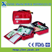 Rare BOEING AIRCRAFT Employee Gift SAFETY FIRST AID KIT MANUFACTURERS Red Zippered Pouch