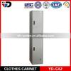 vertical slim waterproof 2 door metal locker with hanging rod