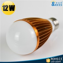 china office 12w led bulbs lamps with golden varnishing