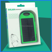Hot product 2015 portable solar power bank 50000mah solar battery charger 12v for moblie phone