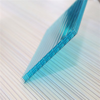 6mm transparent frosted polycarbonate hollow panel corridor roofing sheet