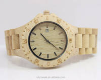 Fashion round eco-friendly wooden watch,bulk buy from chian(SWTPR1033)
