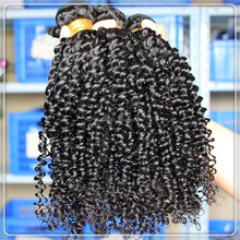 1 Piece MOQ Sample Order Accept Afro Kinky Curly weave Brazilian human hair cabelo weft extension for African beauty woman