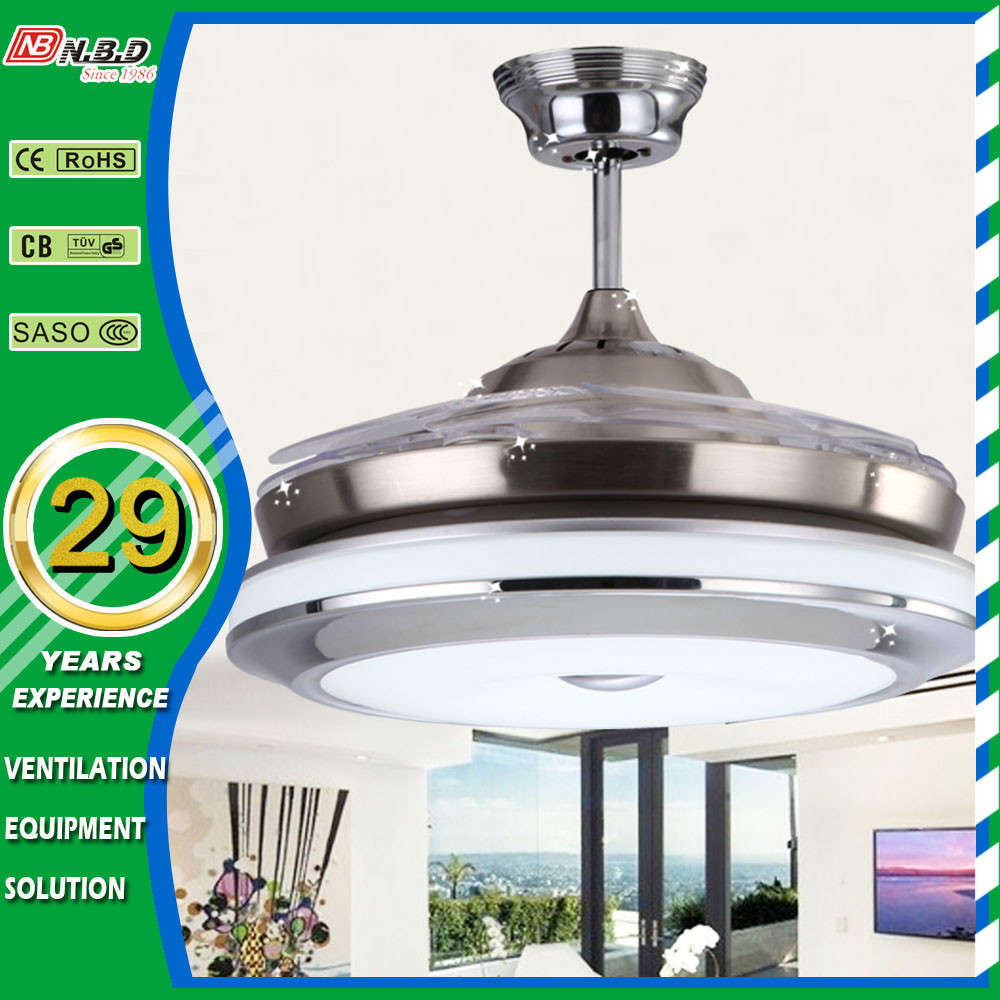 Remote Control 42inch Bladeless Ceiling Fan With Light