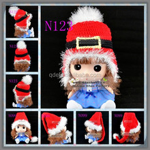 Efan Christmas Xmas party use adult/baby unisex plush red white santa hat