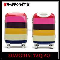 Good quality multi-color ABS/PC 3 piece trolley luggage sets women trolley hard case luggage on wheels