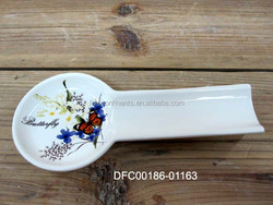 Customizable Ceramic Spoon Holder with Decal
