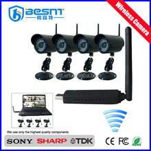 China wholesale full hd 2.4ghz waterproof 4ch wireless camera set BS-W254