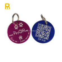 New products ! andozied different color laser engraved qr code pet id tags for pet qr