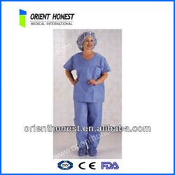 PP/SMS disposable nonwoven hospital long gown