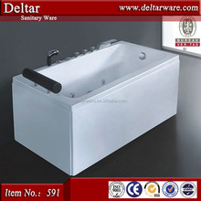 acrylic hight cheap bathtub, copper water switch 1 person hot tub, massage jacuzzy bathtub