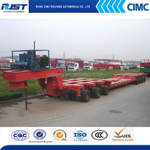 heavy duty lowbed hydraulic modular trailer truck for special or large equipment