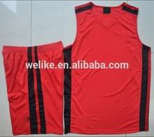 la costumbre baratos sin mangas de baloncesto jersey uniforme de conjunto