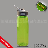 BPA Free PCTG material with straw plastic water bottle