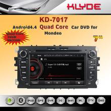 professional car dvd 2 din quad core RAM 1GB ROM 16GB android4.4 syetem HD car DVD GPS navigation for mondeo