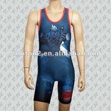 Tonton sportswear custom fighting women /men wrestling singlet