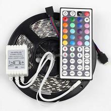 16.4FT SMD 5050 Waterproof 300LEDs RGB Flexible LED Strip Light Lamp Kit + 44Key IR Remote Controller