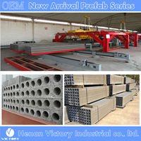 Full automatic concrete hollow core partition wall panel production line
