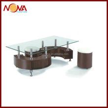 "Modern design the ""S"" shape glass coffee table"