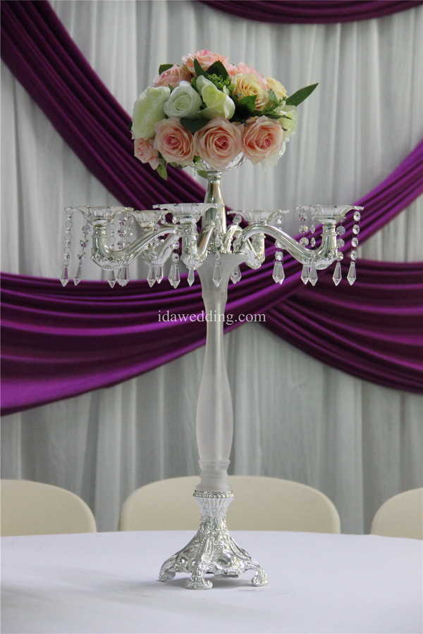 Candle holder with branches and flower stand wedding