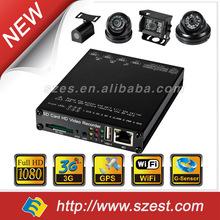 NEW 720P 1080P G-Sensor 128GB SD Card 4 Channel 3G WiFi Car DVR