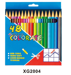 Artist 48 & 24 & 12 color lead wood drawing customized packed color pencil