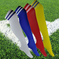 2015 wholesale striped world cup cotton colorful knee high men's football sport compression sock manufacturer