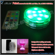 Wholesale art and craft supplise remote control led submersible light vase base