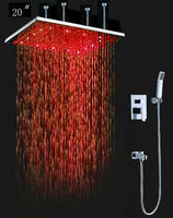 20 Inch Square Big Rain Bath Shower,LED Shower Head,Top Shower