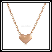 Tiny Elegant Small Gold Love Heart Cute Short Necklace Present Great Gift MGJ0135