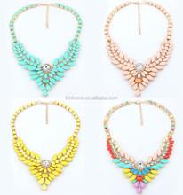 Woman Fashion Jewelry Punk Vintage Gem Necklace Korea Alloy 4 Colors Women Pendant Necklace New Gift for lady