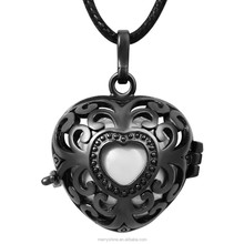 Love Mom By Heart Antique 925 Sterling Silver Harmony Bola Pendant for Thanksgiving Christmas Gift H194A16