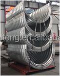 Flange Corrugated galvanized steel culvert pipe