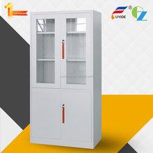 professional vertical glass and steel door metal file storage cabinet /office furniture