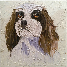 High Quality lovely dog Animal Oil Painting on Canvas