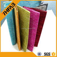 bright plain yarn dyed linen fabric in stock for sofa curtain