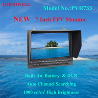 Built in Battery Channel Auto Searching 7 Inch FPV DVR Monitor with Sun Shade
