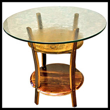 6 seaters round stone top dining tables