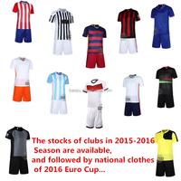 Newest! 2015-16 thailand grade original soccer jersey,football jersey grade ori Youth Soccer Uniform Set