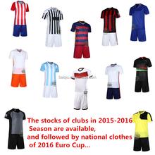 Mais novo 2015-16 tailândia grau originais camisa de futebol camisa de futebol grau ori juventude conjunto uniforme de futebol