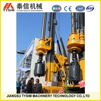 KR80A borehole drilling rig, ground hole drilling machine, soil foundation construction machine
