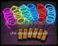 High Quality Flashing waterproof multicolor el wire cable el flashing wire