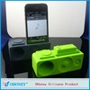 New design fashion phone accessories rubber amplifier silicone horn speaker for iphone with good quality