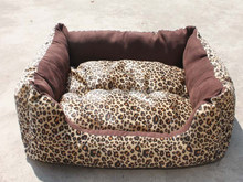 Luxury Elegant Dog bed Leopard print Pet accessories wholesale china