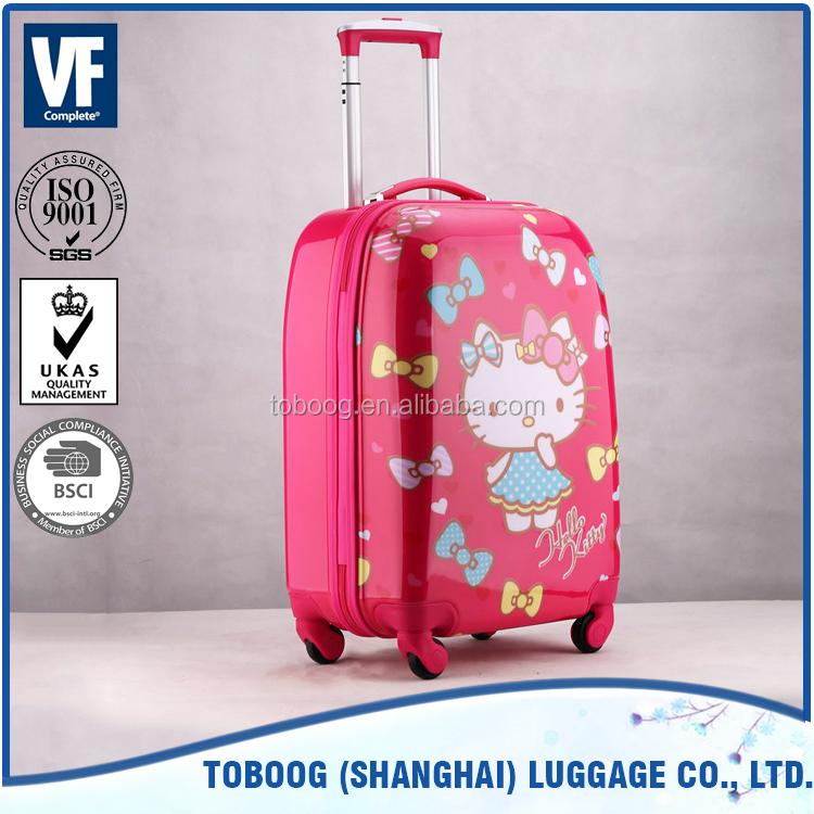 Độc đáo có thể gập màu xanh màu hello kitty có thể gập lại dây kéo cho túi hành lý