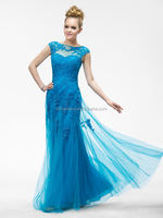 HT285 Elegant blue turquoise mother of the bride dresses tall mother of the bride dresses