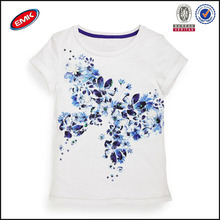 fashion girls white baby printing t shirt with sequin