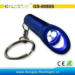 GS-8088S aluminum led ring light with 9 year experience, keychain flashlight,waterproof flashlight